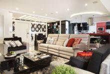 Sala de Estar,Tv,Cozinha e Jantar integradas. Gesso especial.
