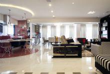 Sala de Estar,Tv,Cozinha,Jantar e Sacada integradas. Gesso especial.