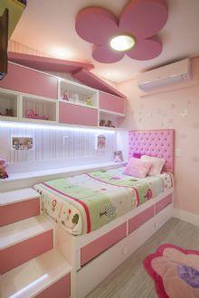 Dormitório Menina. Tema do quarto é a casinha.