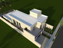 Casa Térrea Mezanino Estilo Neoclássica