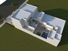 Casa Térrea Moderna - Fachada Reta - Mezanino