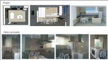 Reforma da cozinha de uma residência.