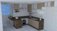 Reforma da cozinha de apartamento.