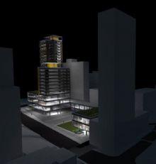 Edifício Híbrido (Escritórios, comércios e uso residencial)
