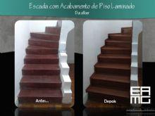 Escada com novo revestimento