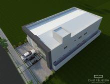 Galpao industrial com fachada moderna