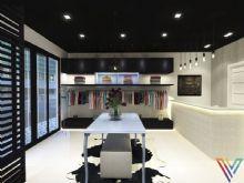Projeto lindo e moderno para uma loja de roupas!! Na marcenaria utilizamos a cor preta e detalhes em laca na cor do ano, serenity!! Um ambiente que expressa elegância com um estilo próprio!!