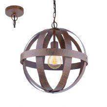 Pendente Eglo Westbury P/ 1 lamp E-27 Aço Marrom Envelhecido