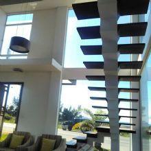 Escada premiada-Menção Honrosa 5 estrelas, ambiente comercial dezembro /2012 site CASAPRO , Casa Claudia, editora Abril